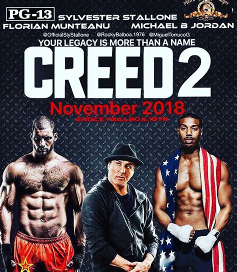 Plakat Rocky by Sylvester Stallone Creed 2 Going To Be A War First