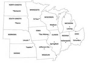 us midwest region map quiz image gallery midwestern capitals