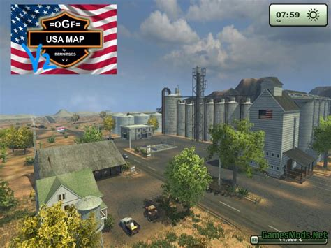 ogf usa map ogf usa map 2 1 187 gamesmods net fs17 cnc fs15 ets 2 mods