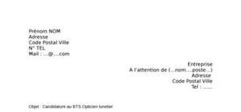 Lettre De Motivation Ecole Opticien Lunetier Lettre De Motivation Bts Opticien Lunetier Exemple De