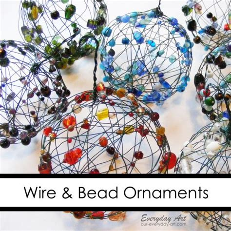 make wire and bead ornaments 187 dollar store crafts