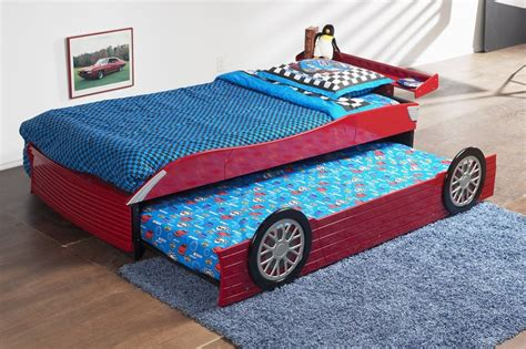 toddler race car bed red race car bed with roll out trundle bed kids baby furniture warehouse