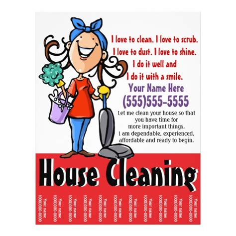 house cleaning services flyer templates house cleaning marketing flyer zazzle