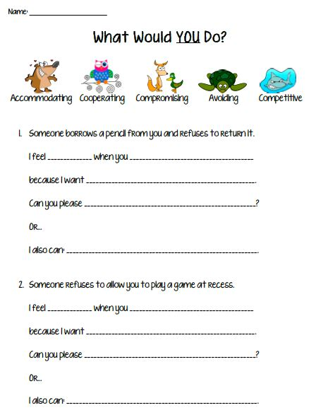 all worksheets 187 conflict resolution worksheets for