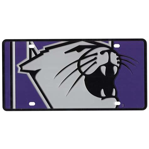 northwestern colors northwestern wildcats color mega inlay license plate