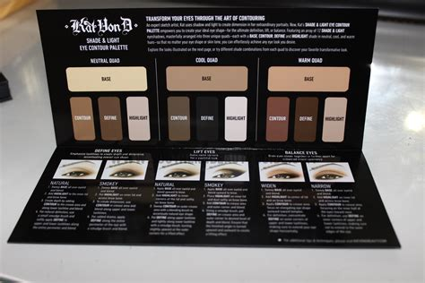 shade and light eye palette kat von d shade light eye contour palette review