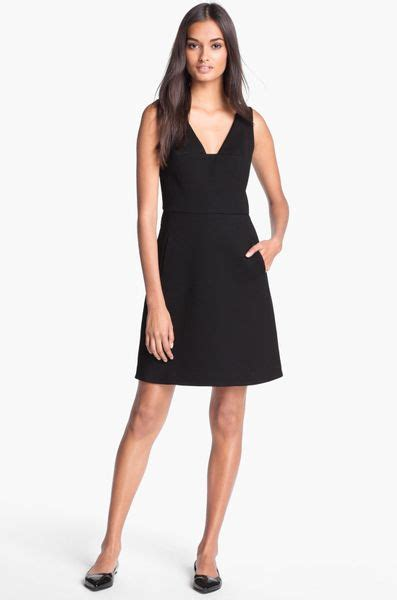 Black Arine Dress roy stretch cotton aline dress in black lyst