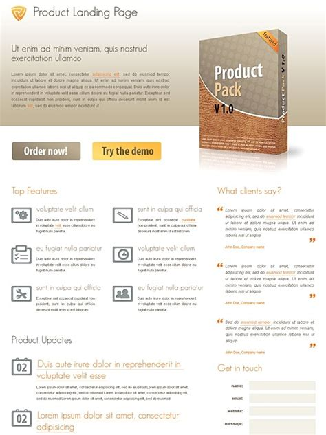 free html product page template 40 beautiful landing page templates