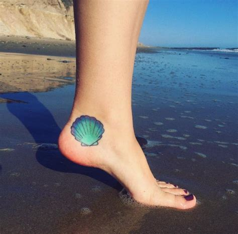 seashell tattoo meaning best 25 shell tattoos ideas on