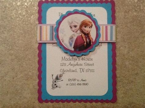 Handmade Frozen Invitations - 337 best frozen images on frozen