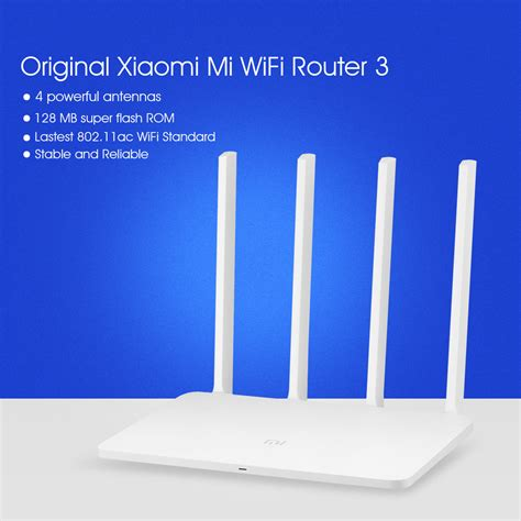 Original Xiaomi Mi Wifi Router 3 Ac1200 1167mbps 128mb With 4 Antenn original xiaomi mi wifi router 3 128mb rom 2 4 5ghz dual wifi 4 antenne 1167mbps ebay
