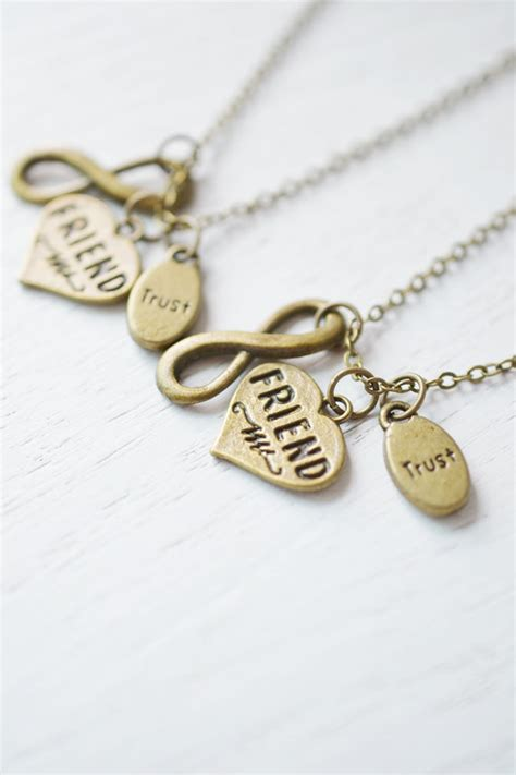 infinity bff necklace best friends necklace jewelry bff necklace best