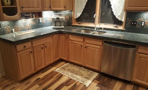 thick chiseled edge kitchen countertops rustic kitchen