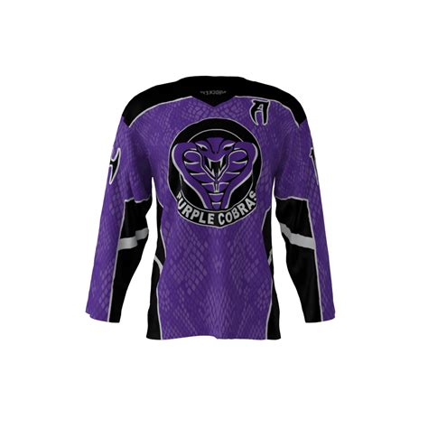 design your jersey hockey cobras purple jersey sublimation kings