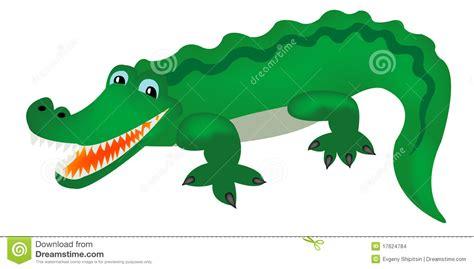 Green crocodile stock vector. Image of reptile, animal ...