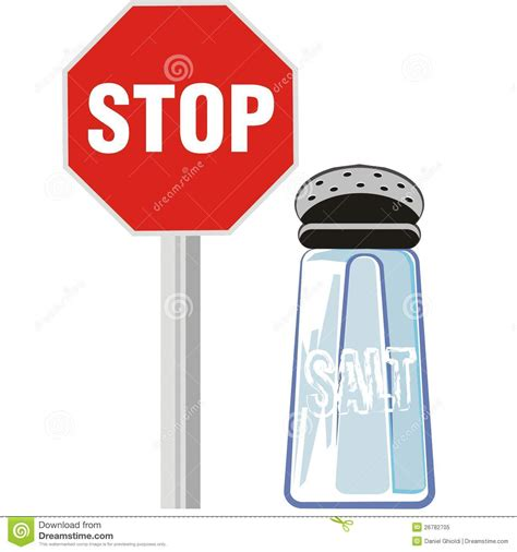how to use a salt l protect your health not use salt stock vector image