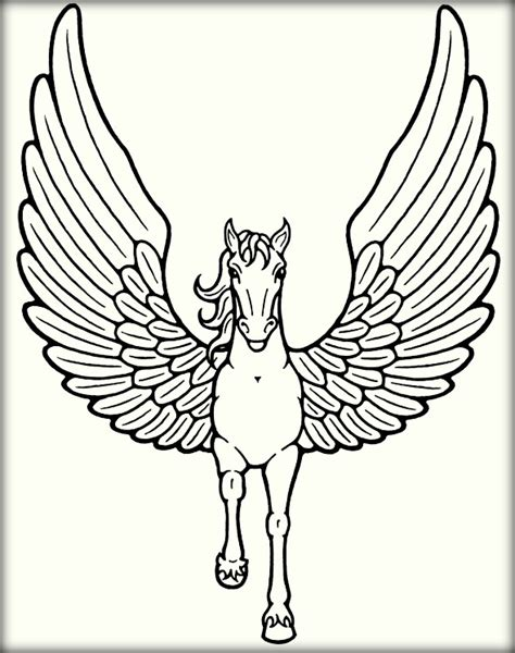 printable unicorn with wings cute unicorn coloring pages for kids color zini