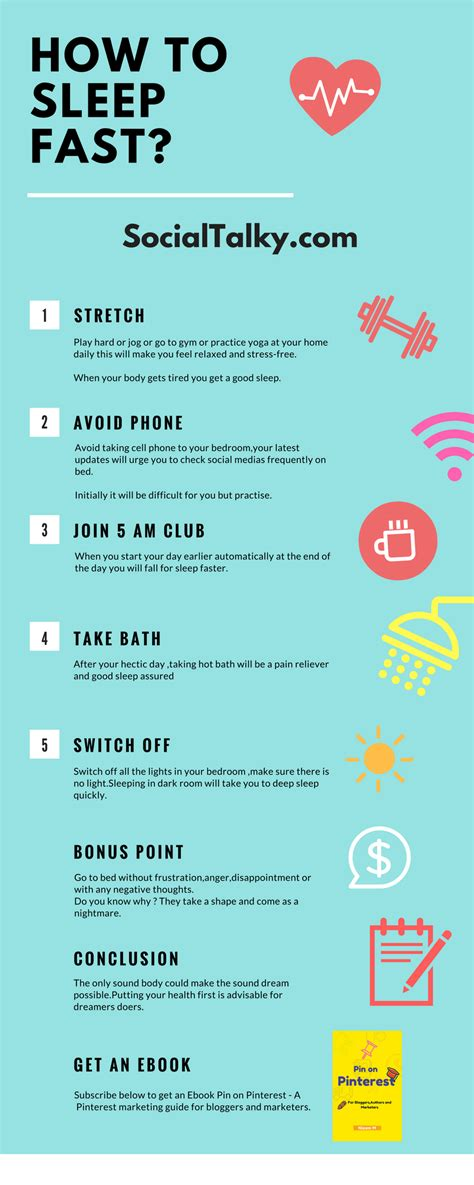 How To Do The Sleeper by 5 Tips On How To Sleep Fast Infographic Social Talky