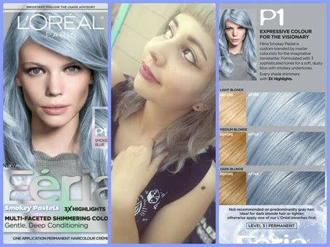 loreal blue hair color best dying my hair loreal feria smokey blue pastel