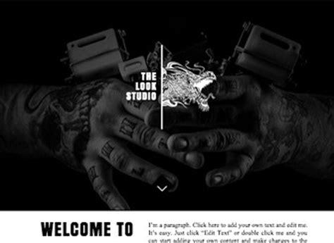 tattoo parlour websites tattoo designs website template wix