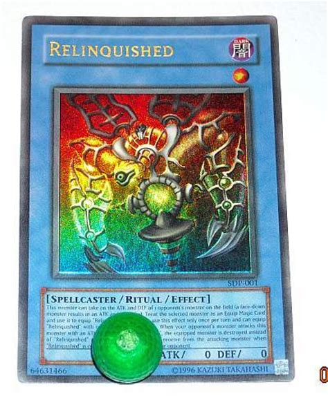 Kartu Yugioh Ori Advanced Ritual Gold 1 free yu gi oh relinquished ultra foil holo card 3 days only cards listia auctions