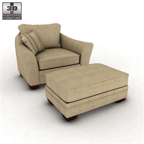 lena putty oversized chair 3d model humster3d