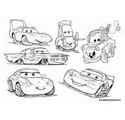 Mater Cars 2 Colouring Pages