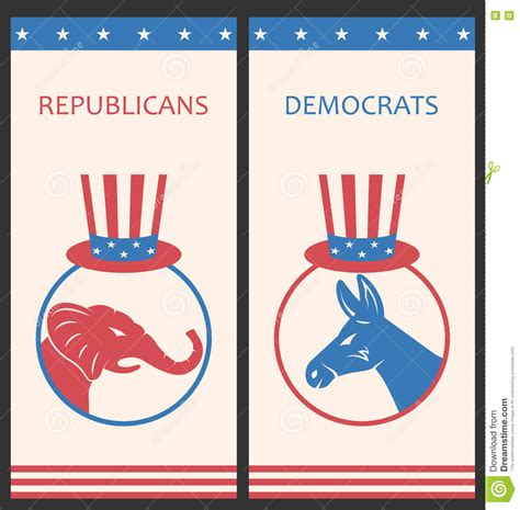 design is political brochures for advertise of united states political parties