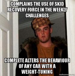 Challenge Completed Meme - complains the use of skid recovery force in the weekly
