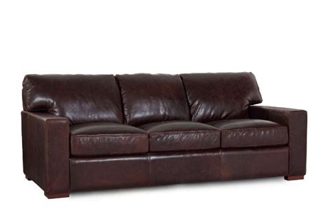 Best Leather Furniture by Grandeur 100 Top Grain Leather Sofa