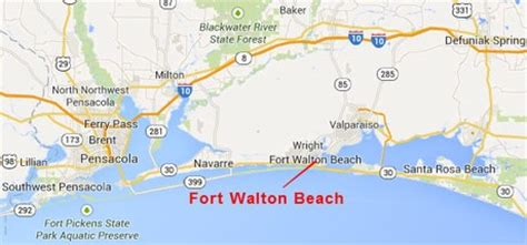 ft walton florida map fort walton real estate search all fort walton