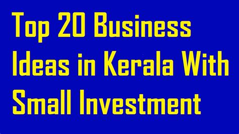 Small Scale Home Business Ideas In Kerala Top 20 Business Ideas In Kerala With Small Investment