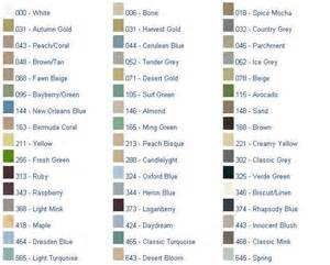 american standard color chart colors
