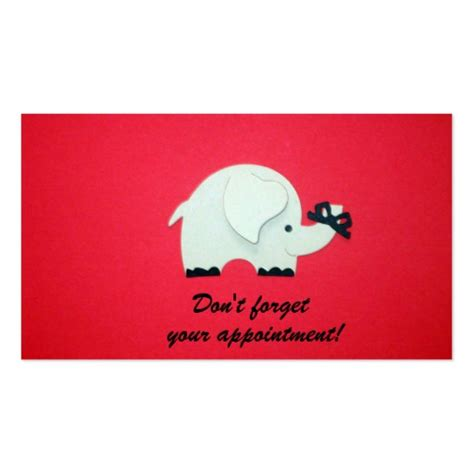 dont forget the small companies don t forget your appointment business card zazzle