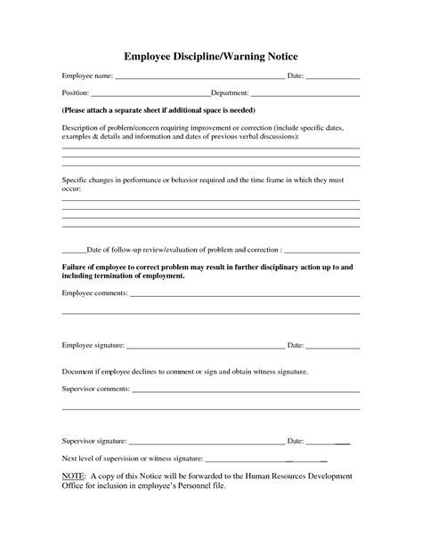 employee disciplinary write up template formal employee write up sle employee raise letter