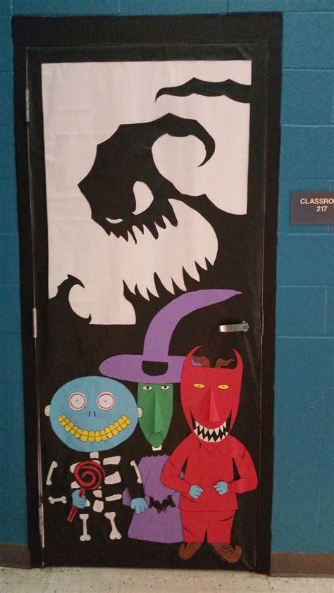 nightmare before christmas halloween door here is my door