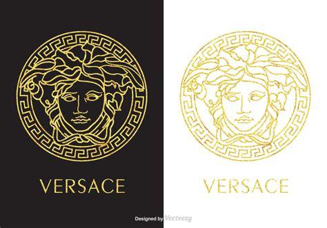 Versace Circle Rosegold golden versace logo vector free vector