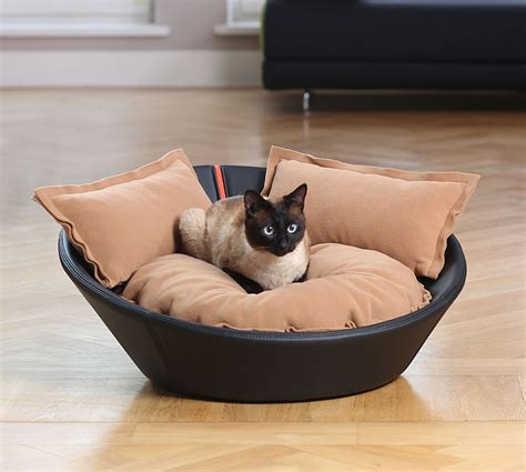 luxury cat beds luxury leather mila cat bed chelsea cats