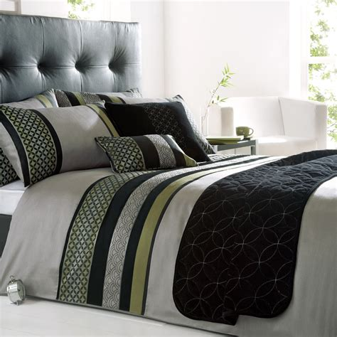 Green And Black Duvet Cover by Silver Green Black Duvet Cover Bedding Set All Sizes Ebay