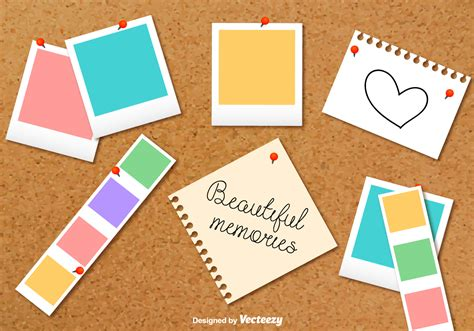 card cpllage background templates cardboard photo collage vector background free