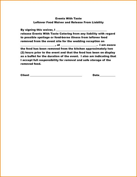 property disclaimer template 5 food disclaimer template financial statement form