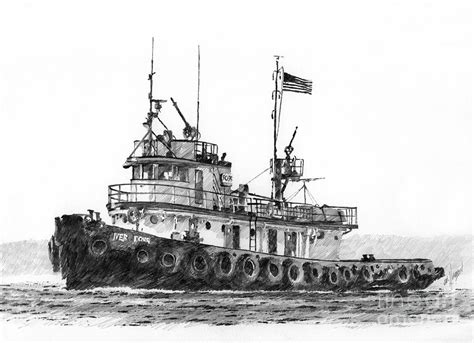 tugboat pics tugboat iver foss drawing by james williamson
