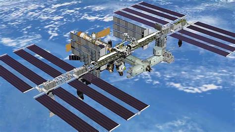 rock solar panels space rock leaves bullet sized in iss solar panel