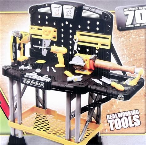 workman tool bench kid s workman heavy duty workbench 70 parts tools power