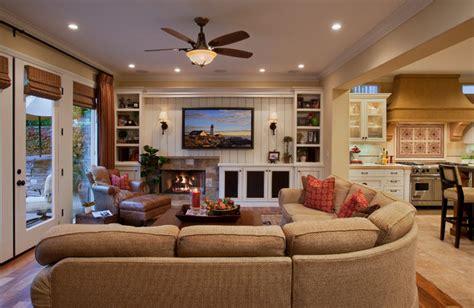 Houzz Family Room Ideas | mediterranean haven traditional family room orange