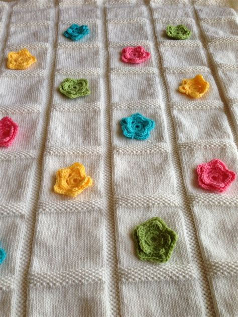 knitted flower blanket 1000 images about baby blanket knit patterns on
