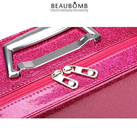 Cosmetic Organizer Bag Korean Pink glitter makeup organizer for bling