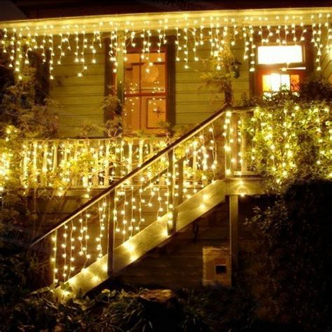 4m led icicle led curtain fairy string light Christmas