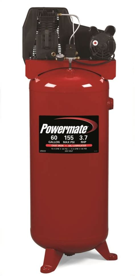 powermate 60 gallon stationary cylinder cast iron air compressor the home depot canada