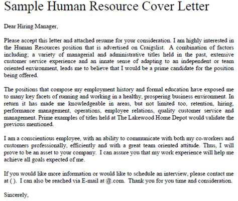internship cover letter sle cover letter for fresh graduate human resource cover